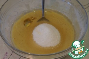 Add the lemon juice, sugar, vegetable oil and beat until smooth.