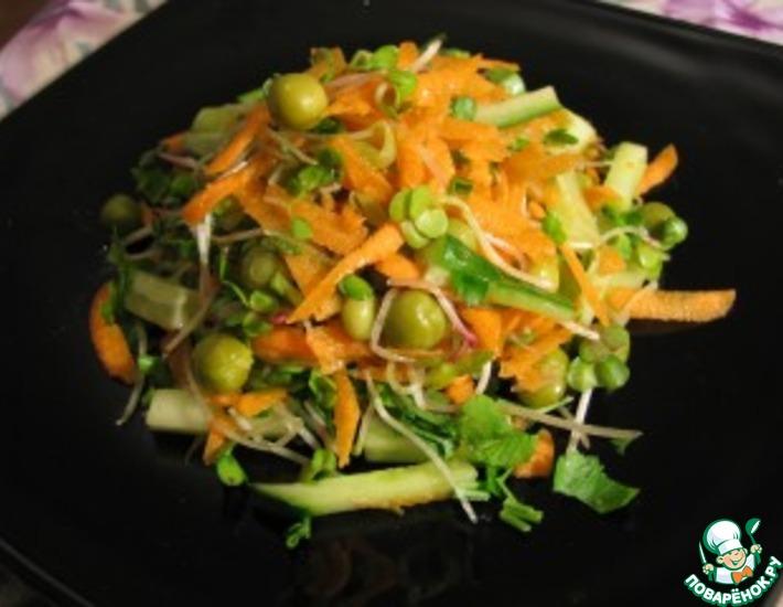 Рецепт: Салатик с ростками редиса