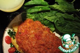 Рецепт: Рыба под томатным соусом