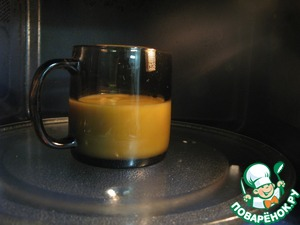 3. Put mug in the microwave for 3 minutes.