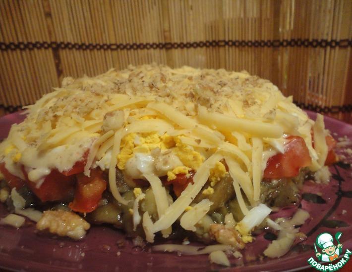 Рецепт: Слоеный салат из баклажанов