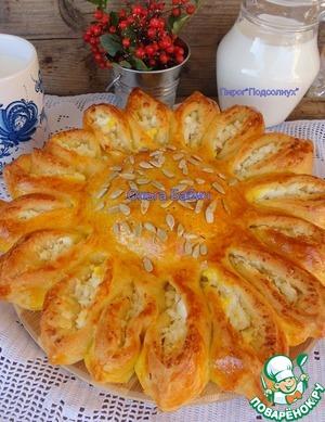 Ставим выпекать пирог в предварительно разогретую духовку.   Выпекаем при 180 г 30-40 минут (смотрим по своей духовке)
