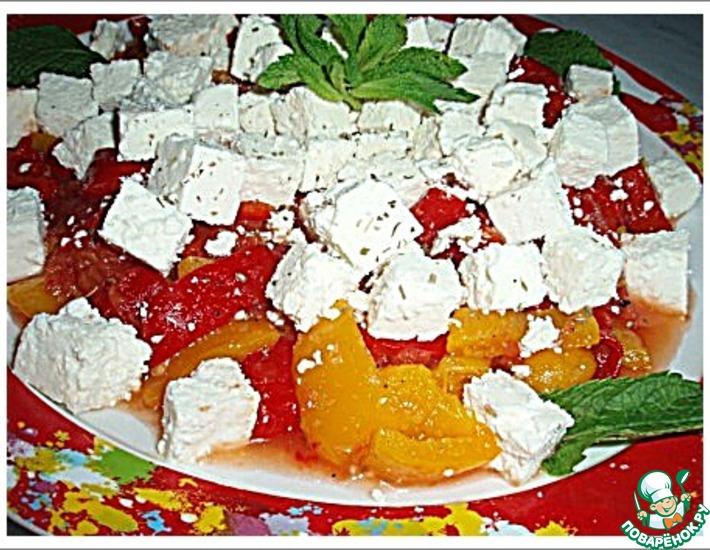 Рецепт: Сладкие перцы с сыром