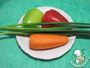 Рис с овощами и креветками