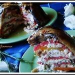 Овощной террин из баклажанов с брынзой