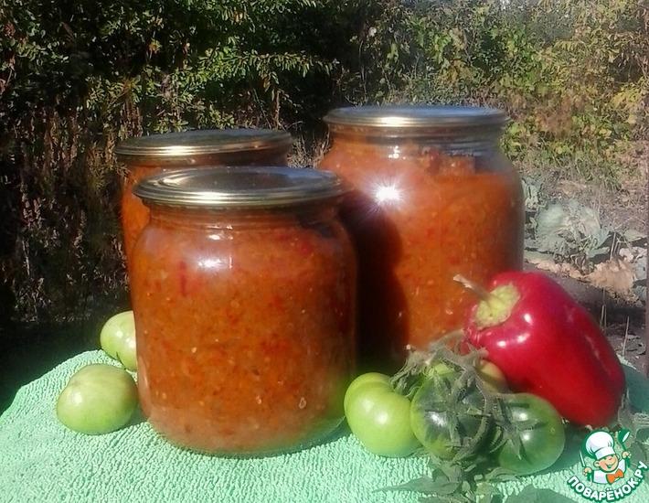 Рецепт: Икра из зеленых помидоров