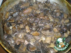 fry mushrooms with garlic (garlic optional), salt,pepper