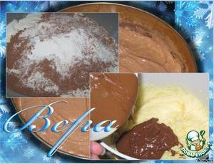 Муку просеять с какао, добавить щепотку соли, соду, разрыхлитель.   Шоколад (120 г.) растопить на водяной бане.   Масло взбить с сахаром, не переставая взбивать ввести по одному яйца.   Добавить шоколад, перемешать.   Шоколадную массу вылить в мучную смесь, добавить пахту.   Тщательно перемешать, до однородности.   Выложить тесто в смазанную форму.