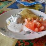 Картофельная запеканка в укропном соусе
