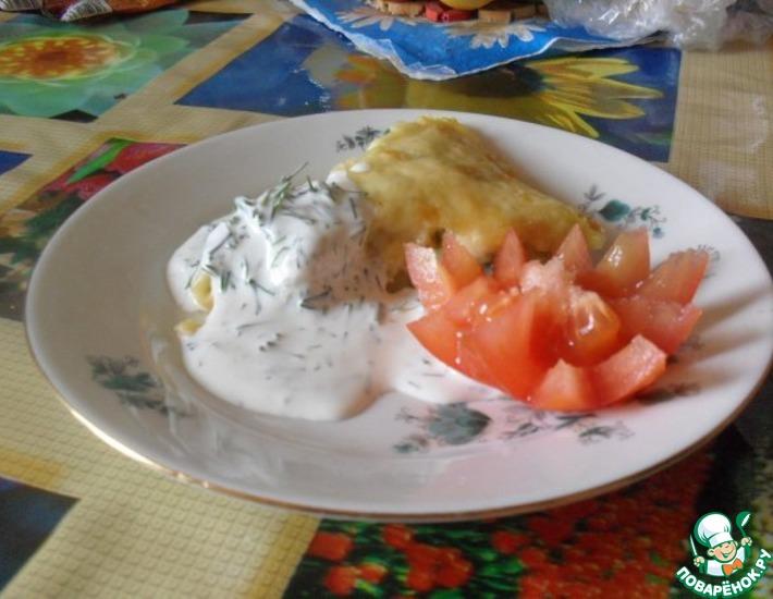 Рецепт: Картофельная запеканка в укропном соусе