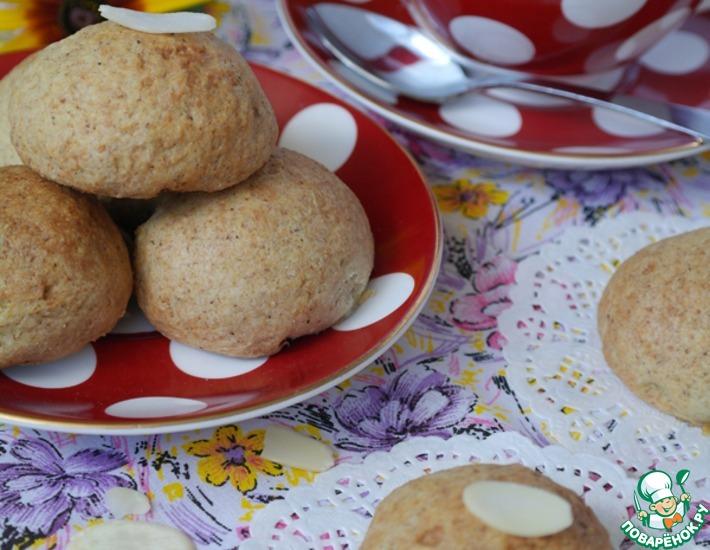 Рецепт: Овсяное печенье с творожной начинкой