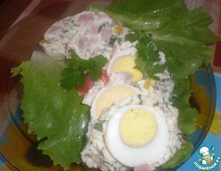 Рецепт: Яйца в сырном желе