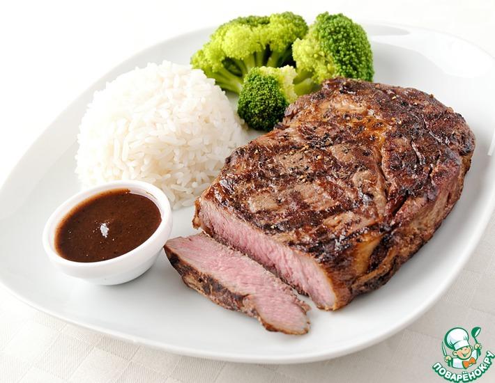 Рецепт: Отбивная с рисом и овощами