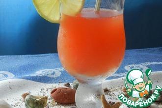 Рецепт: Чайно-цитрусовый пунш с фруктовым сиропом Морской бриз
