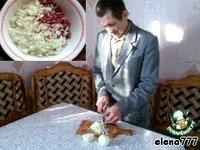 """Праздничный рулет с мясом  """"Новогодняя хлопушка"""" ингредиенты"""