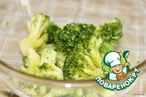 Broccoli cook in boiling salted water for 5 minutes.