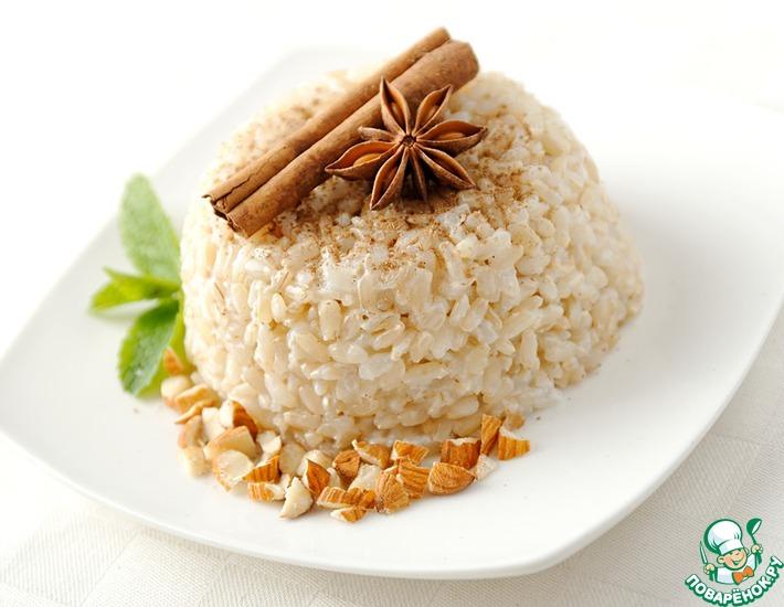 Рецепт: Рисовый пудинг c ванилью