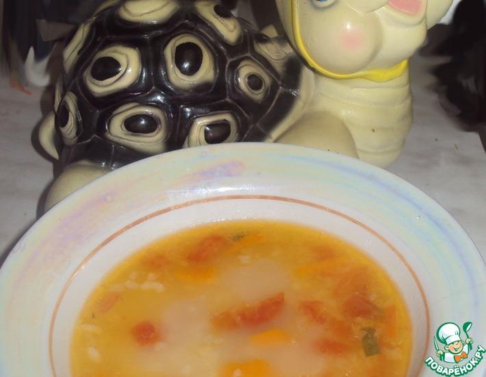 Рецепт: Легкий овощной супчик