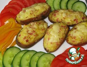 Запечь в духовке до расплавления сыра и образования золотистой корочки, около 15 минут.   Приятного аппетита!