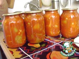 Spread into sterilized jars, I obtained six 1 l jars.