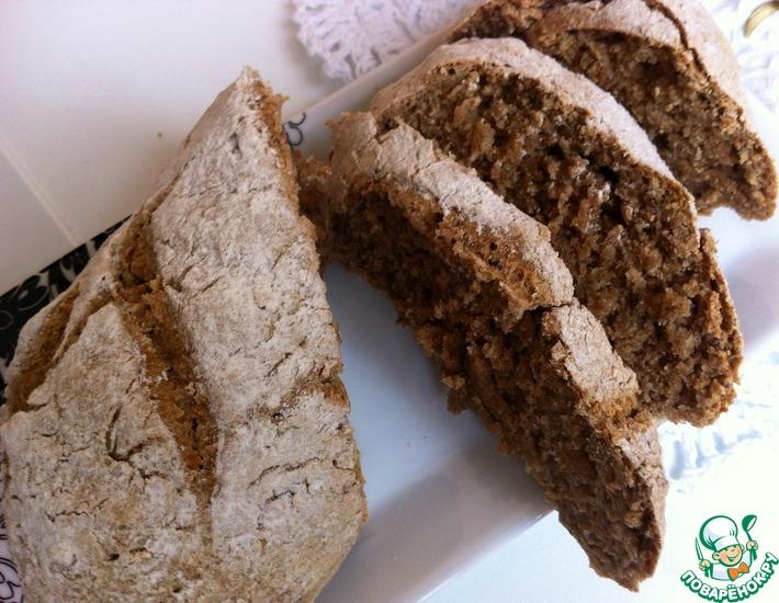 Рецепт: Быстрый бездрожжевой хлеб из трех ингредиентов