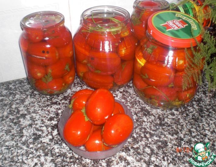 Рецепт: Квашеные помидоры за 2 дня