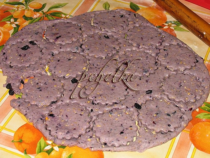 Творожно-овсяное печенье с изюмом