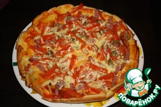 Рецепт: Быстрая и вкусная пицца на сковородке
