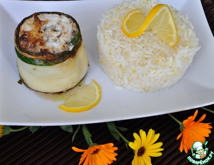 Рецепт: Треска с рисом по-нормандски