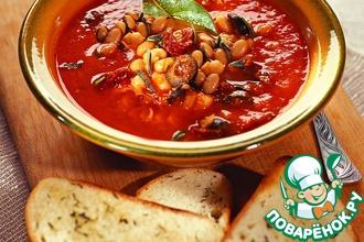 Рецепт: Итальянский томатный суп с гренками
