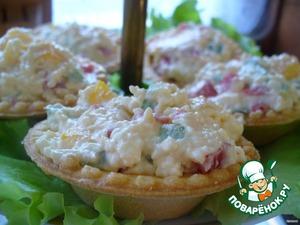 И подаем на блюде на листьях салата.