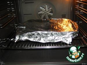 Накрыть фольгой и поставить в духовку на 30 минут.