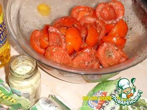 Неаполитанский чизкейк с томатами и базиликом – кулинарный рецепт