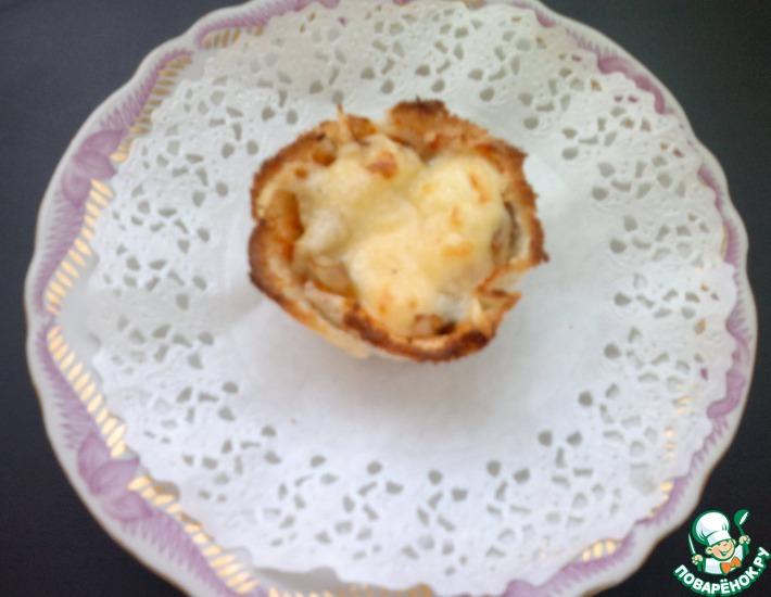 Рецепт: Мини-пицца Умопомрачительная из морозилки