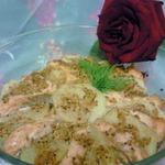 Картофель с лососем