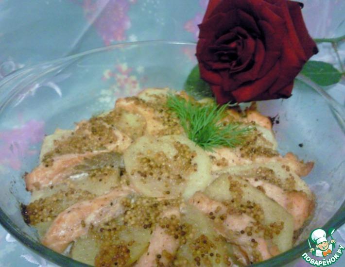 Рецепт: Картофель с лососем