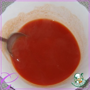 Tomato paste dilute with 2 cups boiling water