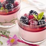 Паннакотта с ягодным желе