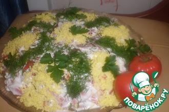 Рецепт: Сельдь под помидорной шубой