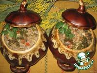 Гречка с сердечками и грибами в горшочках ингредиенты