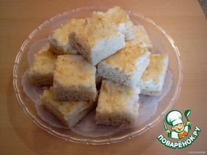 Готовый пирог вынуть из духовки и оставить на 30-40 мин. остывать. Как остынет, разрезать пирог на 20 кусочков. Приятного аппетита!