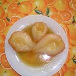Груши-пашот в карамельном соусе