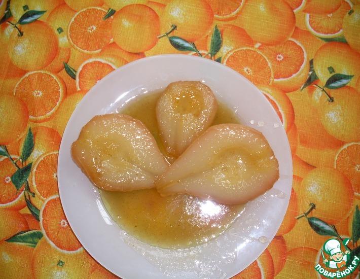 Рецепт: Груши-пашот в карамельном соусе