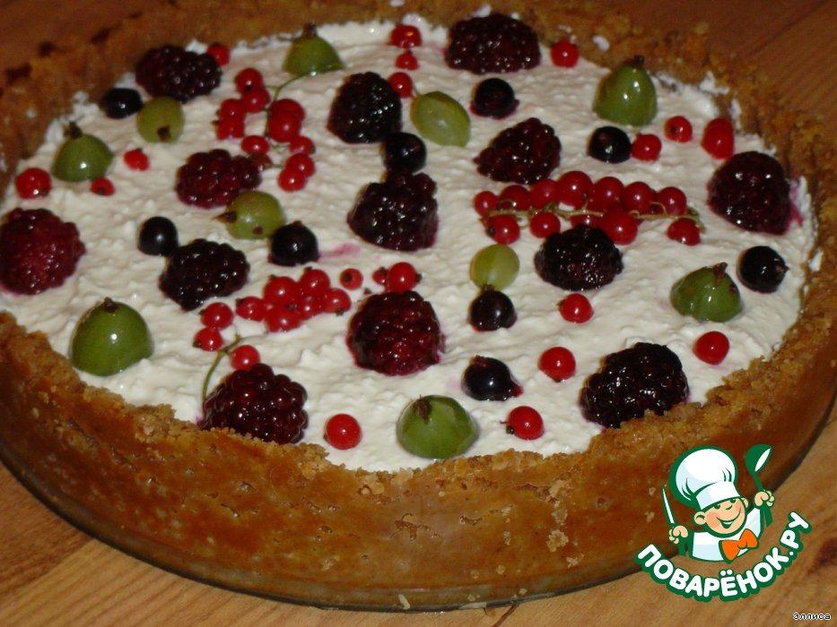 Чизкейк с летними ягодами