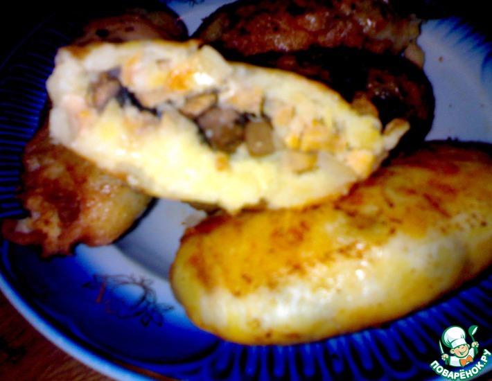 Рецепт: Картофельные котлеты с сюрпризом