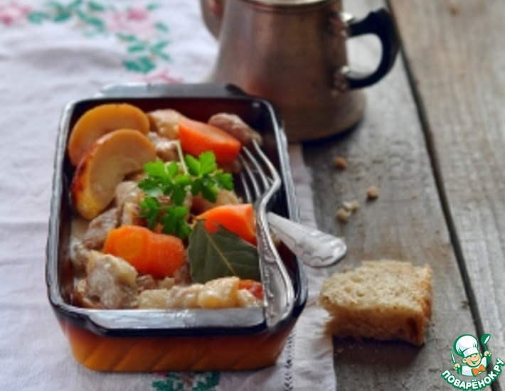 Рецепт: Свинина по-нормандски