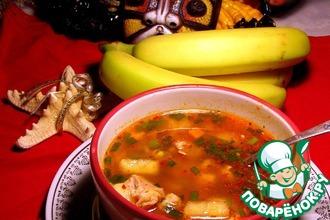Рецепт: Кубинский суп с курицей и бананом