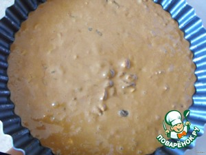 Pour the batter into shape and bake for about 35 minutes at a temperature of 180 degrees.