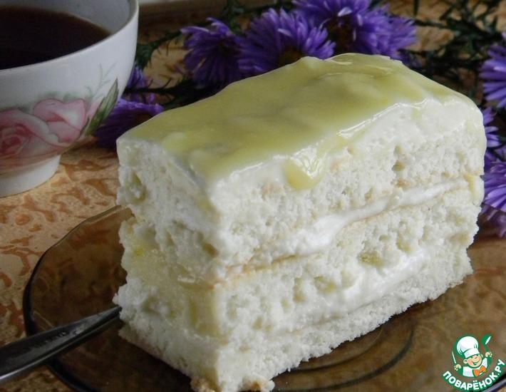 Рецепт: Лимонное пирожное