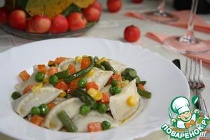 Рецепт Аgnolotti-итальянские пельмени со сливочно-печеночной начинкой